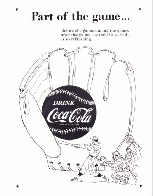 old coke advertisement poster by Row One Brand