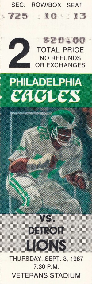 Philadelphia Eagles Ticket Stub Art by Row One Brand