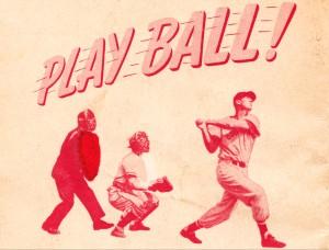 play ball baseball art by Row One Brand