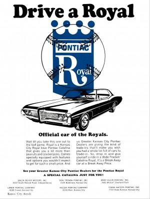 pontiac car ad kansas city royals poster by Row One Brand