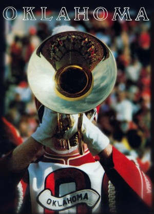 1983 pride of oklahoma retro college marching band poster by Row One Brand