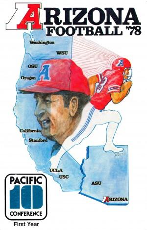 retro arizona wildcats poster 1978 college football by Row One Brand