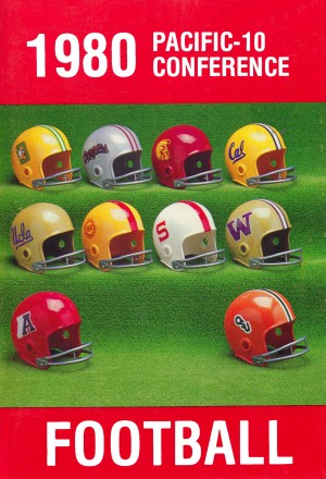 1980 Pac 10 Football Poster by Row One Brand