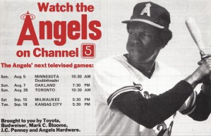 rod carew channel 5 ktla television vintage ad by Row One Brand