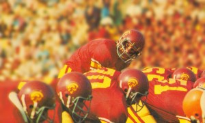 row one brand vintage 1976 national champions usc football art by Row One Brand