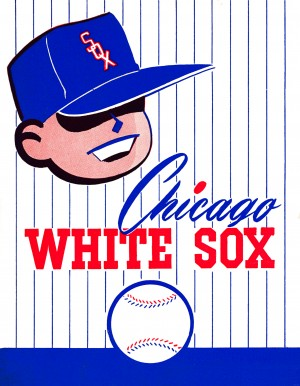 row one brand vintage chicago white sox poster retro remix by Row One Brand