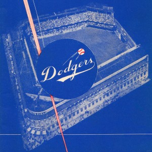 row one dodgers score card art by Row One Brand