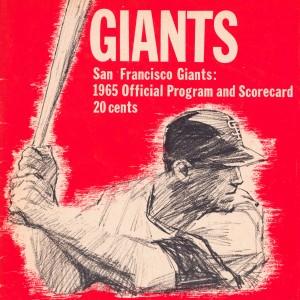 san francisco giants program baseball scorecard framed poster art by Row One Brand