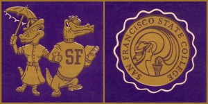 san francisco state university gators art vintage by Row One Brand