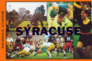 Vintage Syracuse Ticket Art by Row One Brand