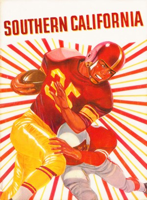 usc trojans row one southern california football retro poster vintage college sign by Row One Brand