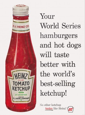 vintage advertisement heinz ketchup  by Row One Brand