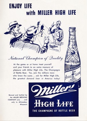 vintage beer ad posters by Row One Brand