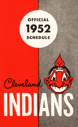 1952 Cleveland Indians Schedule Artwork by Row One Brand