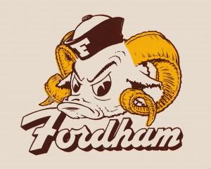 vintage fordham ram mascot college art by Row One Brand