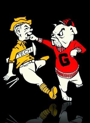 Punching Bulldog by Row One Brand