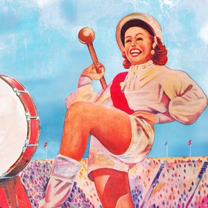 Vintage Marching Band Art by Row One Brand