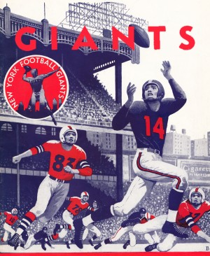 vintage nfl posters giants football poster by Row One Brand
