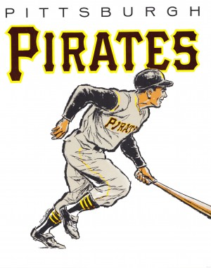 vintage pittsburgh pirates wall art by Row One Brand