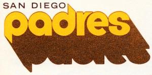 vintage san diego padres metal sign wood prints by Row One Brand
