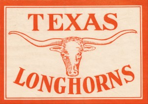 vintage texas longhorns metal sign best college signs by Row One Brand