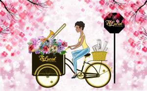 Lady biking by Sara Ryan