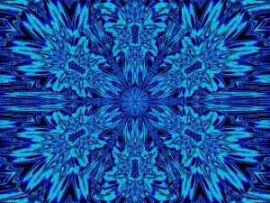 Blue Daisy by Sherrie Larch