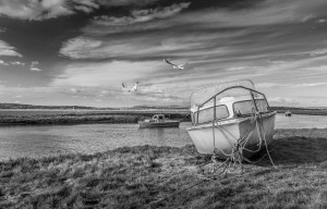 Loughor Estuary boats Wales by Steve Evans