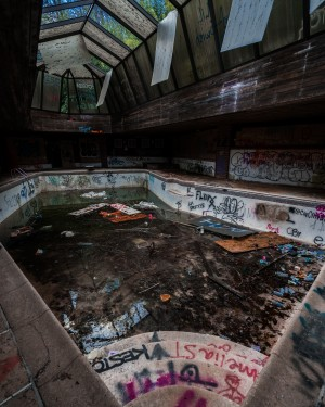 Abandoned Mansion Pool by Steve Ronin