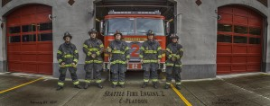 Seattle Fire Department Station 2, Engine 2, C Shift by Steve