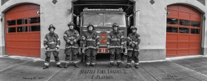 Seattle Fire Department, Engine 2  by Steve