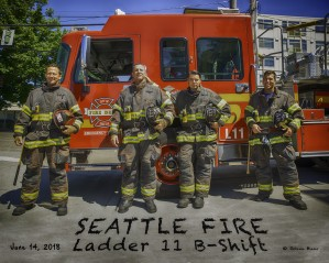 Seattle Fire Departments Ladder 11 B Shift HDR by Steve