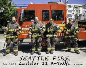 Seattle Fire Departments Ladder 11 B Shift  by Steve