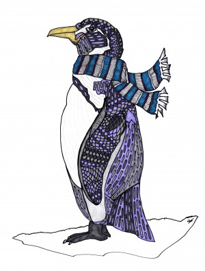 Purple Penguin by Susan Watson