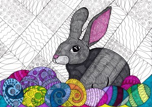Egg bunny by Susan Watson