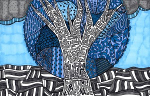 Blue Tree by Susan Watson