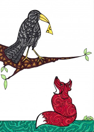 Crow and Fox by Susan Watson