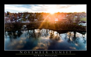 November Sunset by Tim Warris Photography