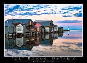 Port Rowan Boathouses by Tim Warris Photography