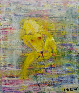 Nude oil on canvas 45x55 cm 2014painter Alik Vetrof by Vetrof Alik