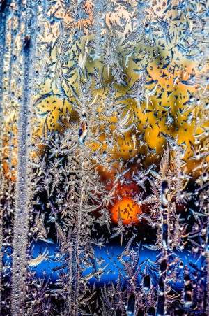 winter window frosting patterns by Viktor Birkus