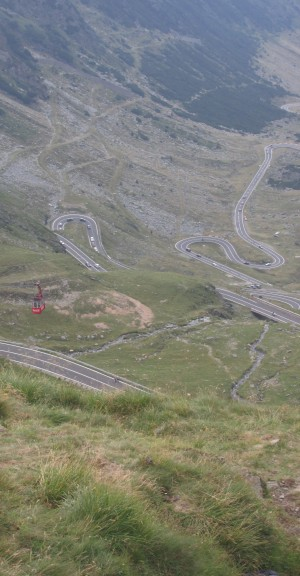 TransFagarasan road view with cable car by Vlad Radulian
