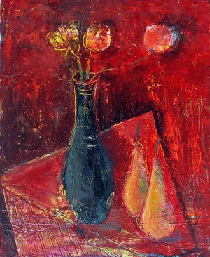 15.PEARS2014year oil on canvas 45x55 cm2500$ by ZAKIR AHMEDOV