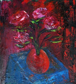 18.RED.2014year oil on canvas45X50cm2000$ by ZAKIR AHMEDOV