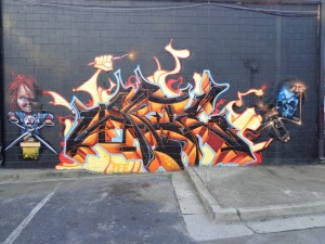 lil 5points back wall by al blue