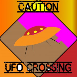 UFO CROSSING  - CAUTION by dePace-
