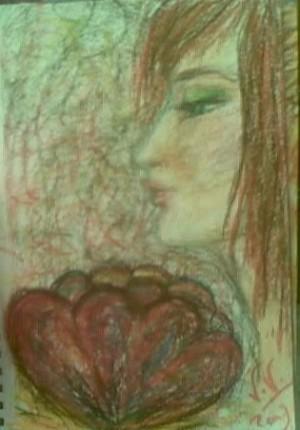 La femme et la fleur  by lalitavv