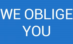 WE OBLIGE YOU by lenie blue