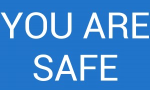 YOU ARE SAFE by lenie blue