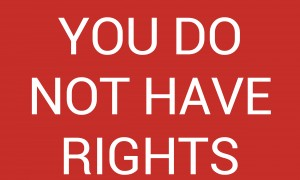 YOU DO NOT HAVE RIGHTS by lenie blue